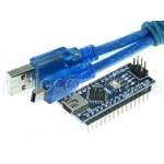 Радиоконструктор nano V3.0 Mega328 DCCduino с USBA-USBmini шнуром