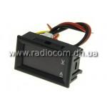 Амперметр-вольтметр цифровой DC0-100V/ 10A красно-синего свечения корпус черный