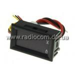 Амперметр-вольтметр цифровой DC0-100V/ 10A красного свечения