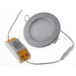 Светильник светодиодный встраиваемый  6W B558WW-S круглый Ф103мм серебр. корпус, теплый белый свет