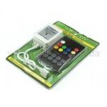 Контроллер музыкальный для RGB ленты RFS20K с пультом RF