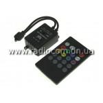 Контроллер музыкальный для RGB ленты IRS20K с пультом IR