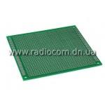 Макетная плата PM 9x10FR4 односторонняя толщина 1.6мм с маской(HAL)