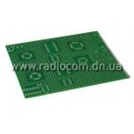 Макетная плата PM 9x11FR4 односторонняя толщина 1.6мм с маской(HAL) SOP, QFP, SSOP....