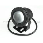Прожектор светодиодный круглый белое свечение 10W  ~220V PR-10-220-W-R