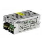 Блок питания 12V  15W 1.25A в металлическом IP20 корпусе R15-12