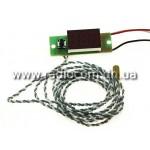 Тахометр-вольтметр-термометр ТВТ-036/3-3D-i-R (автомобильный; красный)
